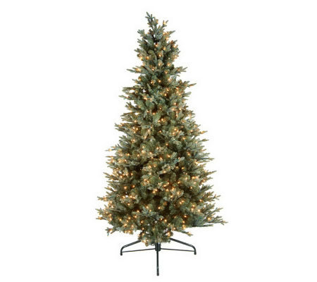 BethlehemLights 6.5'Blue Spruce Christmas Tree w/Instant Power