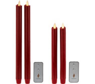 "Luminara 8"" or 12"" Wax Dipped Taper Candles With Remote"