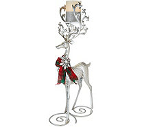 Kringle Express Standing Metal Reindeer with Flameless Candle - H211629