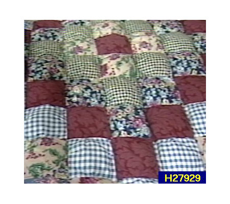 Country Fair Handcrafted King Size Puff Quilt Qvc Com