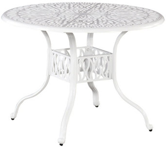 "Home Styles Floral Blossom White 48"" Round Dining Table - H288629"