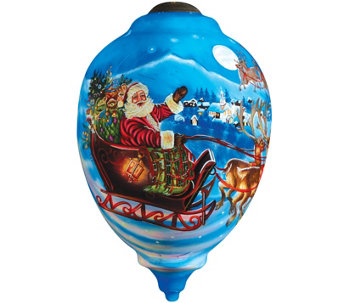 Limited Edition Santa's Magic Flight Ornament by Ne'Qwa - H289129