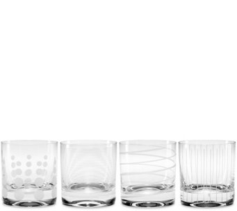 Mikasa Cheers Set of 4 Double Old Fashioned Glasses - H289229