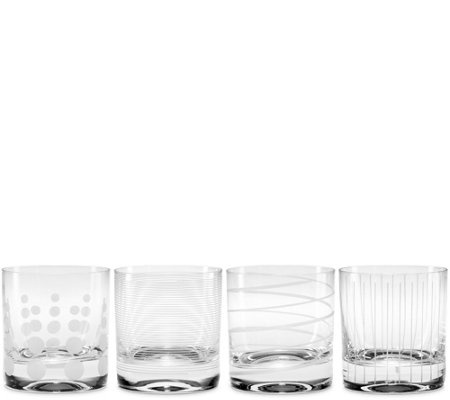 Mikasa Cheers Set of 4 Double Old Fashioned Glasses