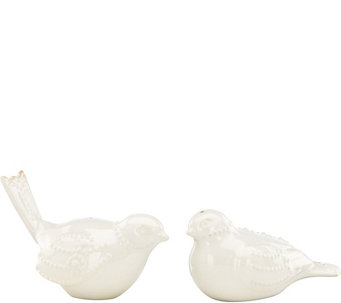 Lenox French Perle Bird Salt and Pepper ShakerSet - H289429