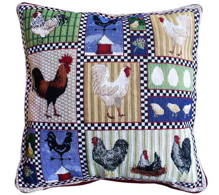 Qvc Decorative Pillows : Roosters and Chickens 18