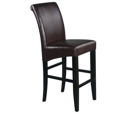 "30"" Parsons Bar Stool in Espresso Faux Leatherby Office Star"