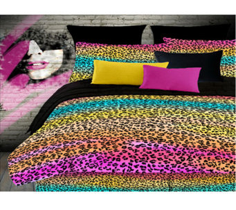 Veratex Rainbow Leopard Full Comforter Set - H351529