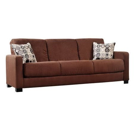Handy Living Tahoe Microfiber Convert A Couch wCircle Pillows