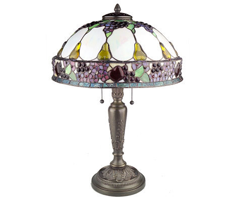 "Handcrafted Tiffany Style 24-3/4"" Fruit Basket Table Lamp ..."