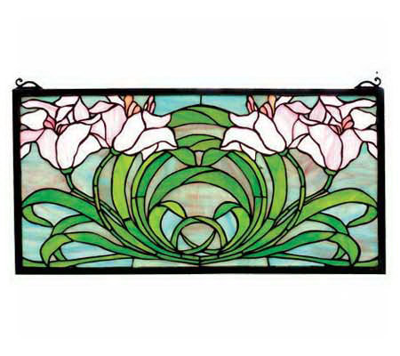 Tiffany Style Calla Lily Window Panel