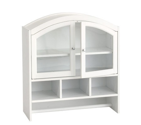 Arch top bathroom wall cabinet white - Bathroom storage wall cabinets white ...