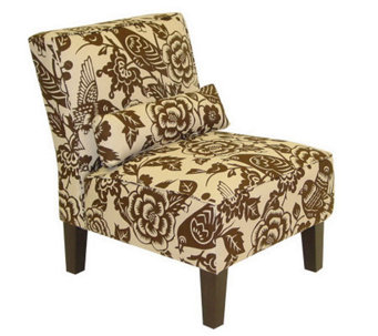 Armless Canary Upholstered Slipper Chair - H173730