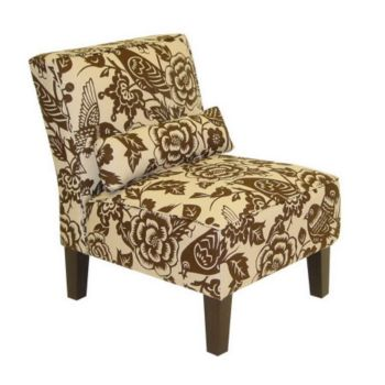 Armless Canary Upholstered Slipper Chair