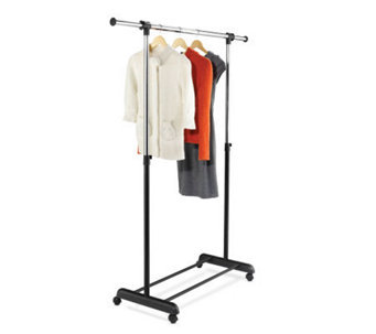 Honey-Can-Do Expandable Garment Rack -  Chrome/Black - H184030