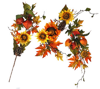 5' Bountiful Harvest Garland with Sunflowers by Valerie - H206230