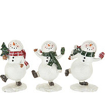 "Set of (3) 5"" Snowmen with Decorative Accents by Valerie - H211830"