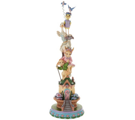 Jim Shore Heartwood Creek Illuminated Spring Stacked Figurine