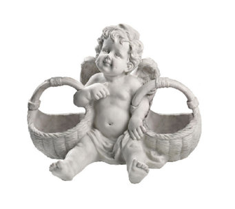 Design Toscano Basket of Treats Cherub Statue - H284430