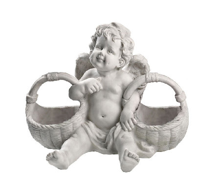 Design Toscano Basket of Treats Cherub Statue