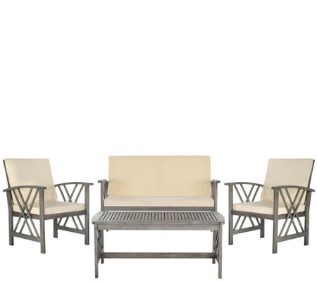 Safavieh Fontana 4 Piece Outdoor Set Page 1