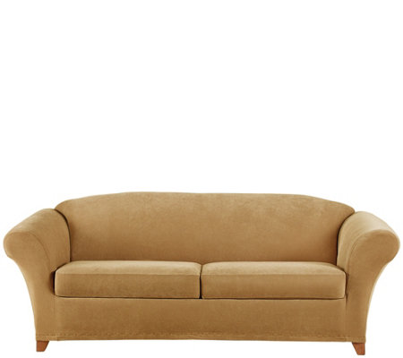 sure fit stretch pique 2 seat sofa slipcover page 1