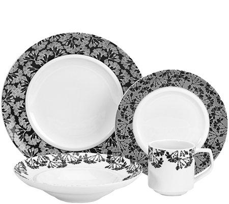 Cuisinart 16-Piece Elite Porcelain Juine Dinnerware Set  sc 1 st  QVC.com & Cuisinart 16-Piece Elite Porcelain Juine Dinnerware Set \u2014 QVC.com