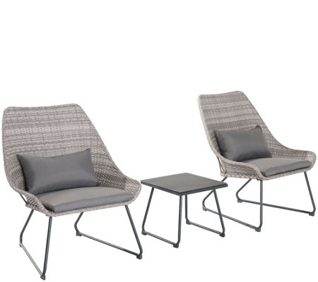 Cambridge 3-Piece Wicker Chair Set