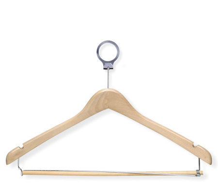 Honey-Can-Do Set of 24 Deluxe Maple Wood FinishSuit Hangers