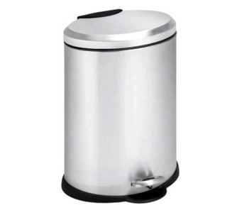Honey-Can-Do Stainless Steel Oval 12-Liter StepTrash Can - H357030