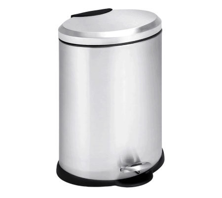 Honey-Can-Do Stainless Steel Oval 12-Liter StepTrash Can