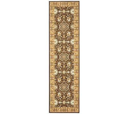"Treasures Bordered Persian Power-Loomed 2'2"" x8' Runner"