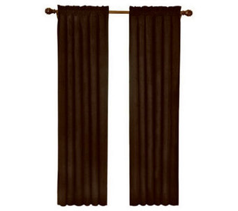 "Eclipse 42"" x 95"" Sueded Blackout Window Curtain Panel - H367530"
