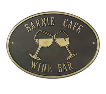Personalized Wine Plaque - H139331