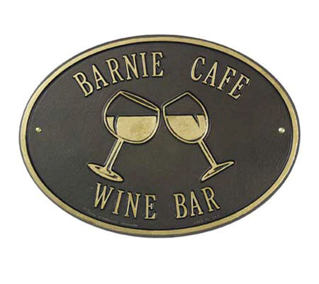 Personalized Wine Plaque
