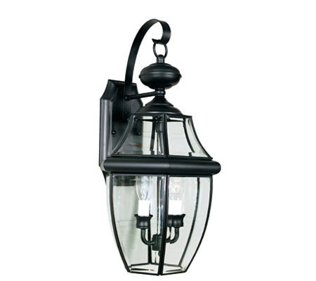 Quoizel Newbury Black Candelabra Outdoor Sconce