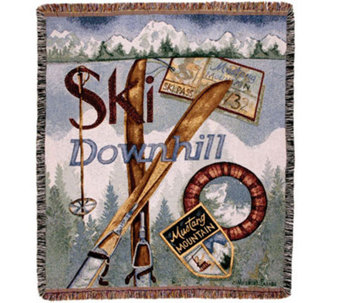 Vintage Ski Throw by Simply Home - H188031