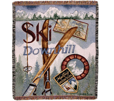 Vintage Ski Throw by Simply Home