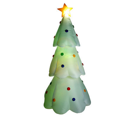 8' Airblown Christmas Tree with Color Changing Light Show Feature
