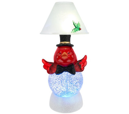 Kringle Express Holiday Character Glitter Dome Candle Lamp