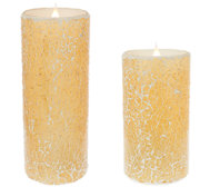 Solare Mosaic Flameless Candle with Multi-Hue Flame