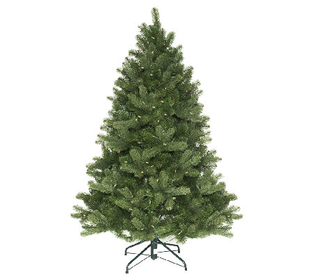 """As Is"" Santa's Best 5' Colorado Spruce Christmas Tree w/ EZ Power"