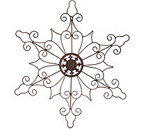 "Plow & Hearth Indoor/Outdoor 32"" Metal Snowflake Wall Decor - H211431"