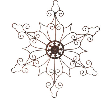 "Plow & Hearth Indoor/Outdoor 32"" Metal Snowflake Wall Decor"