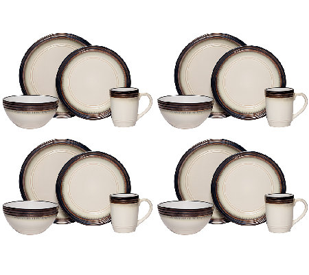 Mikasa Gourmet Basics Bailey 16-pc Dinnerware Set