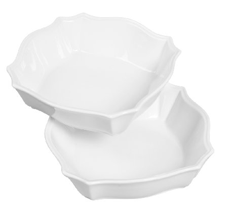 Denmark Tools for Cooks 2-Pc Graduated ScallopSquare Bowls
