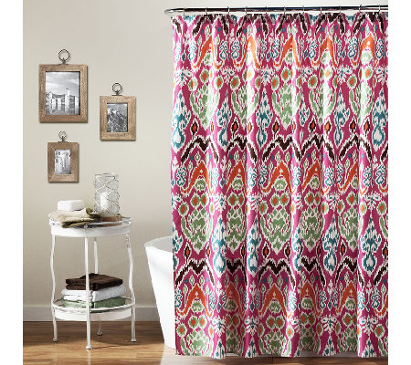 Jaipur Ikat Shower Curtain by Lush Decor