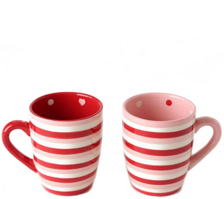 Temp-tations Set of 2 Hugs & Kisses Mugs