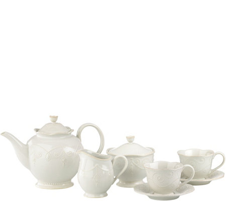 Lenox French Perle 7-Piece Tea Set