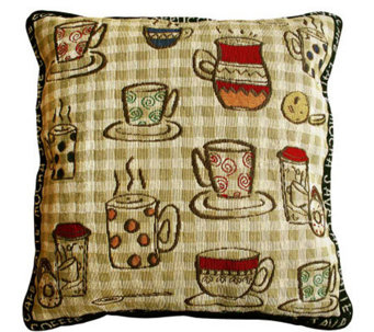 "Rustic Cafe 18"" x 18"" Tapestry Decorative Pillow - H349331"